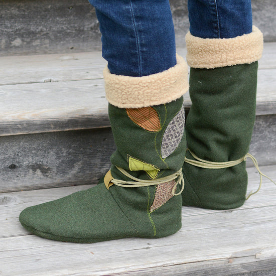 Tie Back Boots - Adult sizes - PDF digital sewing pattern by Twig + Tale  12