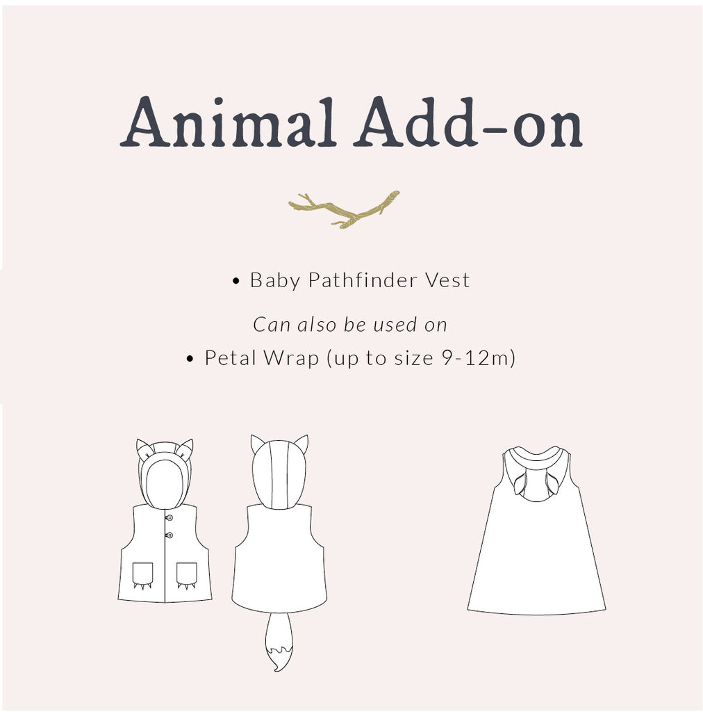 Animal Vest for Babies ~ Baby Pathfinder + Animal Add-on
