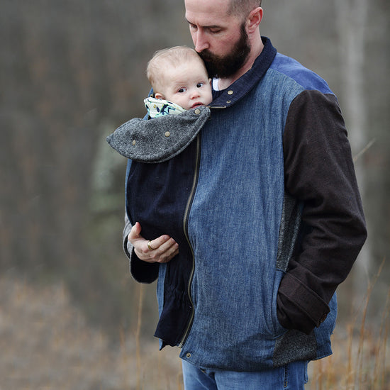 Nestledown Babywearing Coat for Men PDF sewing pattern by Twig + Tale 2