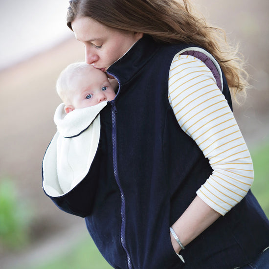 Nestledown Babywearing Vest for Women PDF sewing pattern by Twig + Tale