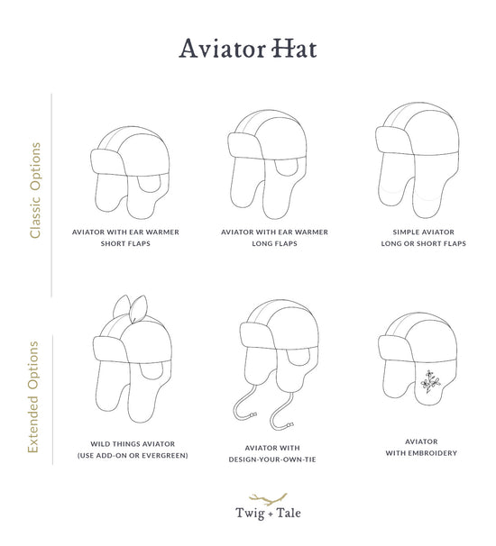 Aviator Hat - Twig and Tale - PDF digital sewing pattern 2