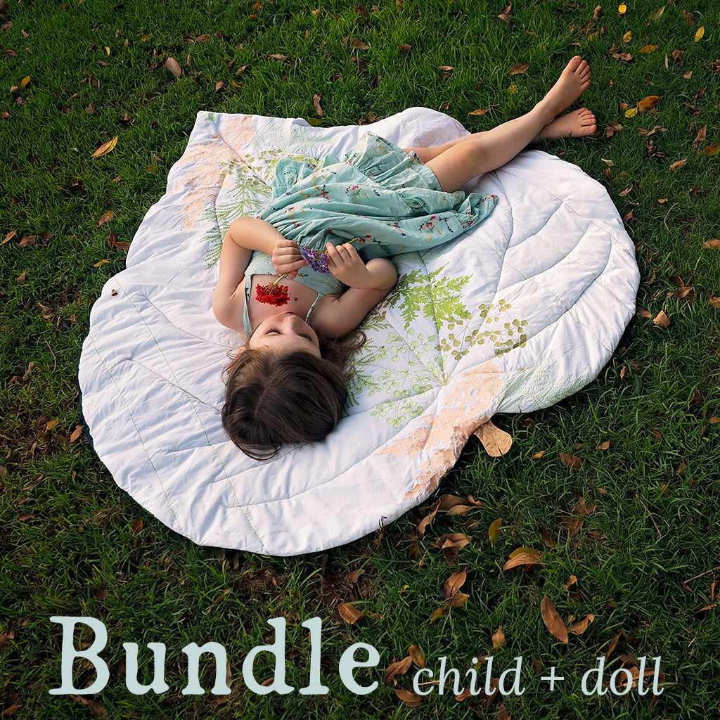 BUNDLE of Leaf Blanket + Doll Leaf Blanket ~ New Zealand Collection