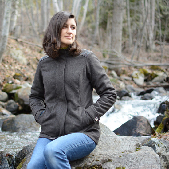 Women's Forester Coat - PDF digital sewing pattern by Twig + Tale 10