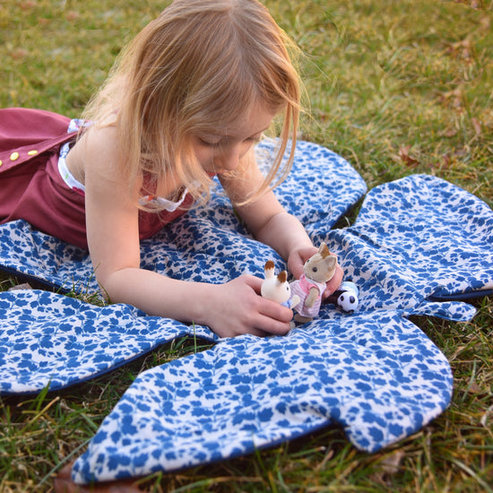 Tropical Leaf Blanket PDF sewing pattern from Twig + Tale