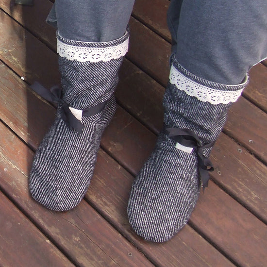 Tie Back Boots - Adult sizes - PDF digital sewing pattern by Twig + Tale  8