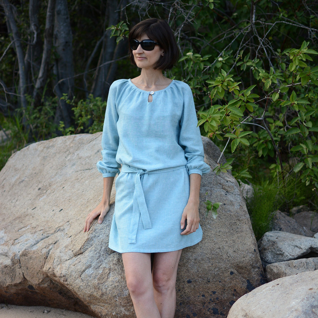 Women's Driftwood Blouse + Dress sewing pattern by Twig and Tale 3
