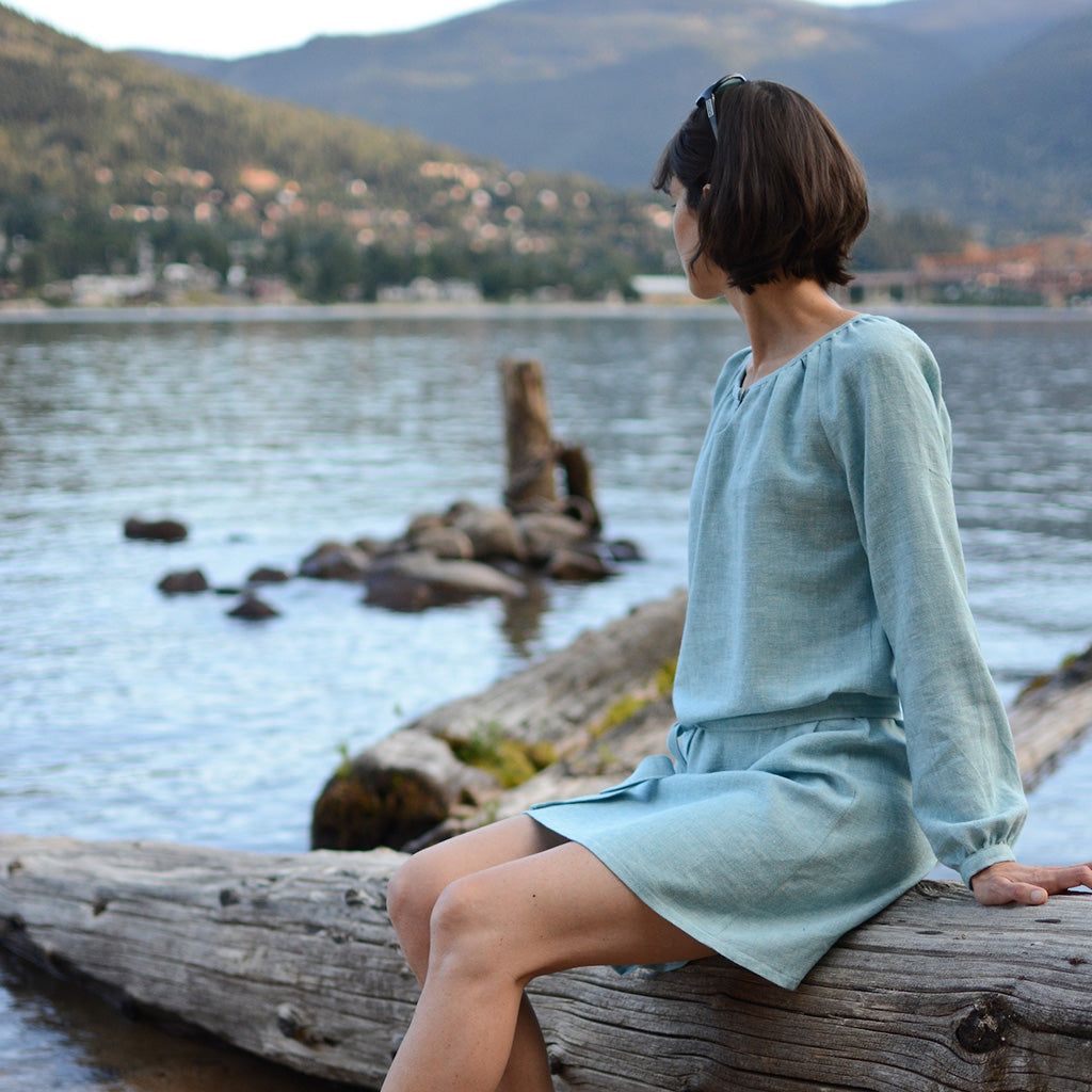 Women's Driftwood Blouse + Dress sewing pattern by Twig and Tale 6
