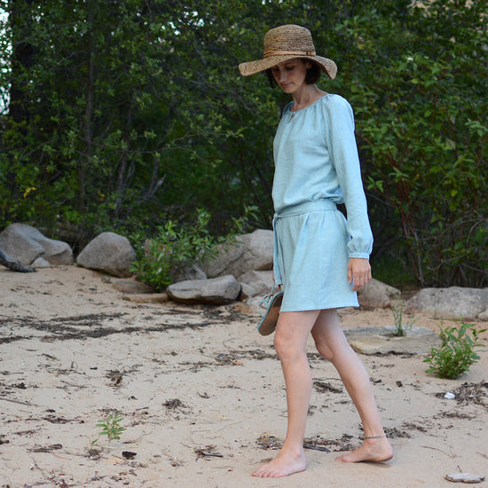 Women's Driftwood Blouse + Dress sewing pattern by Twig and Tale 7