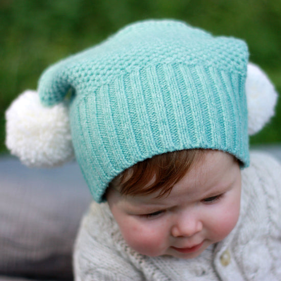 Babies - Pompom hat sewing pattern by Twig + Tale