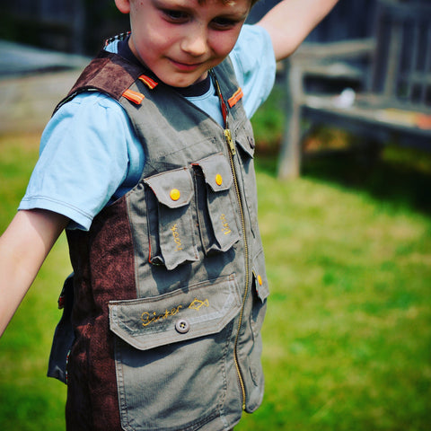 Boys - Tops Children's Fishermans Vest PDF digital Sewing pattern by Twig and Tale