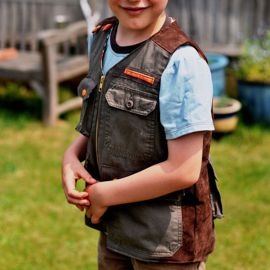 Boys - Outerwear Children's Fishermans Vest PDF digital Sewing pattern by Twig and Tale
