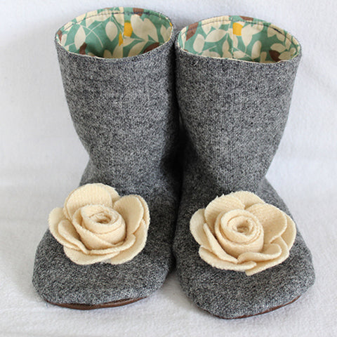 Flower Boots Sewing Pattern - Twig + Tale  - Digital download  - 2