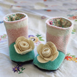 Baby - Footwear Flower Boots Sewing Pattern - Twig + Tale  - Digital download  - 6