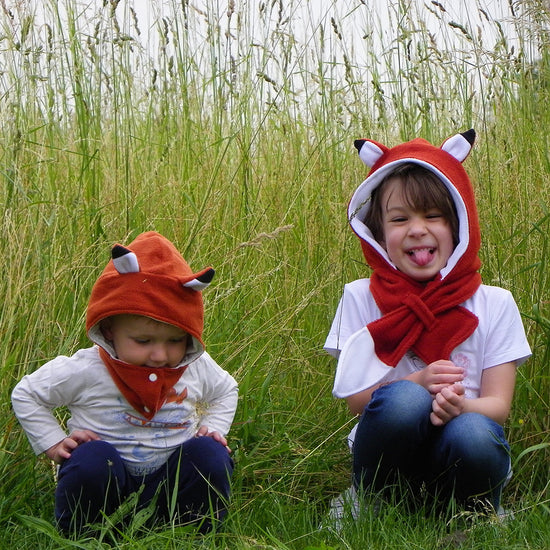 Animal themed Hooded Scarf + Tails - Twig + Tale  - Digital PDF sewing pattern - 2