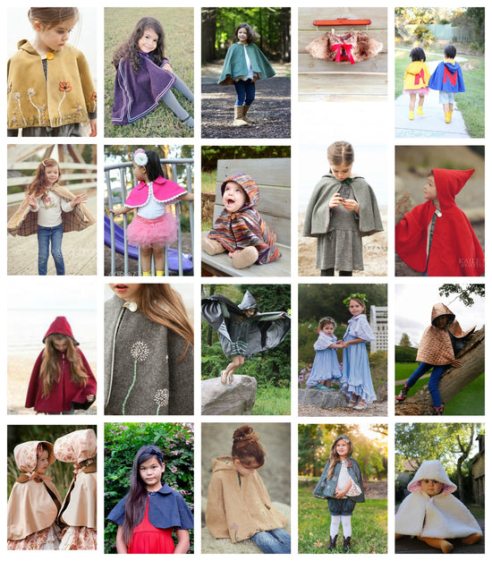 Traveller Cape - PDF digital sewing pattern by Twig + Tale - 6