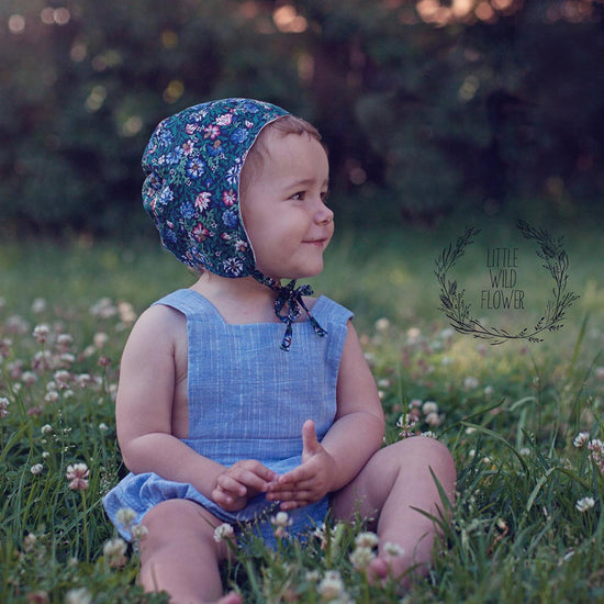 evergreen bonnet digital PDF sewing pattern by Twig + Tale