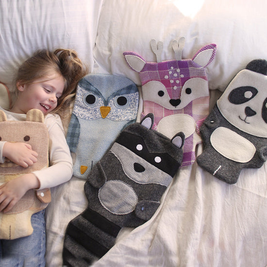 Animal Themed Hot water bottle covers -Twig + Tale - Digital PDF sewing pattern