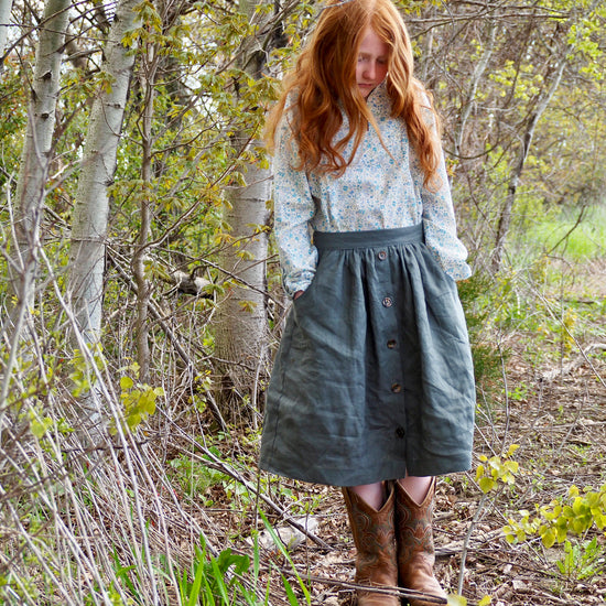 girls-bottoms Meadow skirt digital sewing pattern by Twig and Tale 2