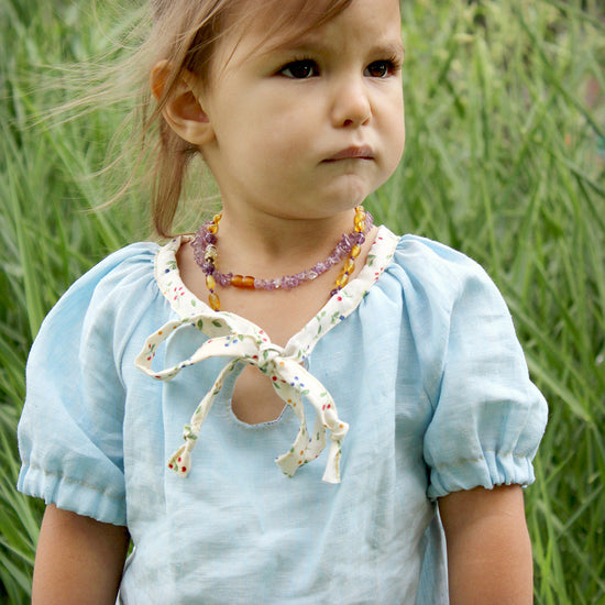 Baby driftwood blouse and dress - Twig and Tale - PDF digital sewing pattern 9