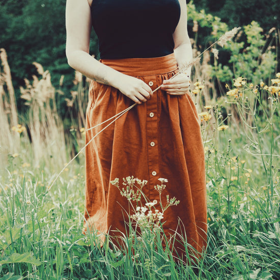 Button front Meadow Skirt - PDF digital sewing pattern by Twig + Tale