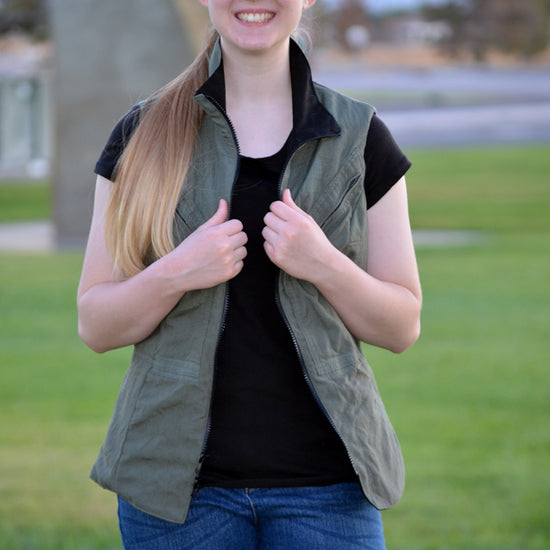 Women's Trailblazer Vest - PDF sewing pattern by Twig + Tale 14
