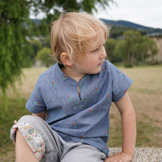 Boys Breeze Shirt PDF Digital Sewing Pattern by Twig and Tale 9