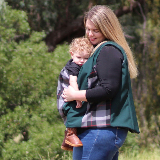 Nestledown Babywearing Vest for Women PDF sewing pattern by Twig + Tale 7