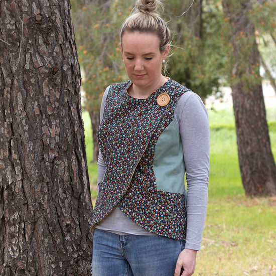 women's crossroads vest pdf digital sewing pattern by Twig + Tale 5
