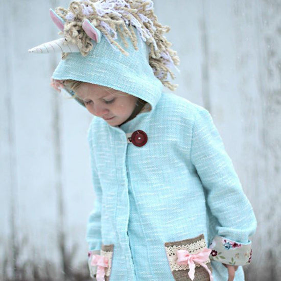 Unicorn Animal Coat - Twig + Tale  - Digital PDF sewing pattern - 15