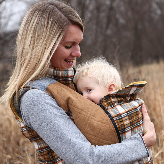 Nestledown Babywearing Vest for Women PDF sewing pattern by Twig + Tale 3