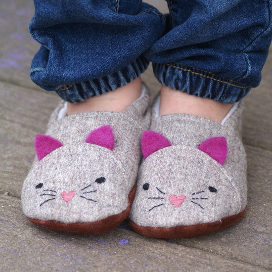 Animal Themed Slippers - Twig + Tale  - Digital PDF sewing pattern