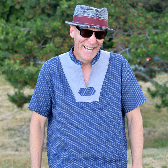 Men's Casual Breeze Shirt - PDF digital sewing pattern by Twig and Tale 7