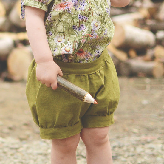 Girls - Bottoms Pixie shorts and pants pdf digital sewing pattern by Twig and Tale