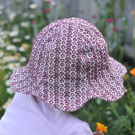 Sunny Hat Flower Add-On PDF sewing pattern from Twig + Tale