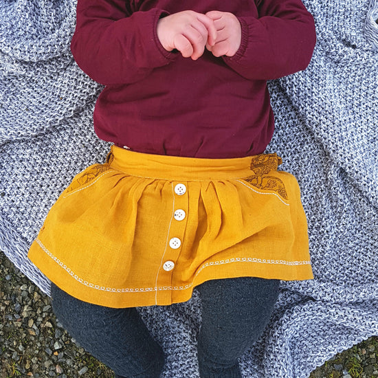 Baby Meadow Skirt PDF sewing pattern by Twig + Tale 4