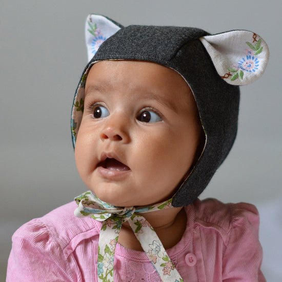evergreen animal bonnet digital PDF sewing pattern by Twig + Tale 6