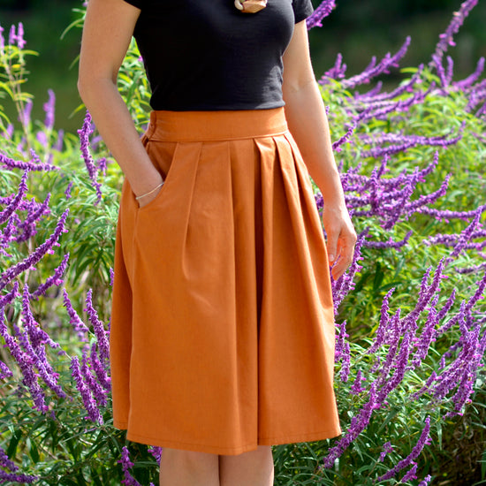 pleated Meadow Skirt - PDF digital sewing pattern by Twig + Tale
