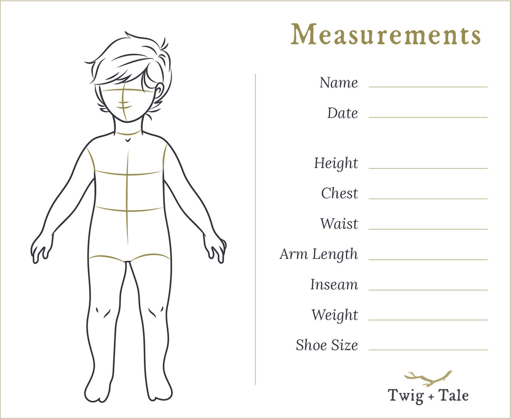 Pocket Measurement Cards - Twig + Tale  -  - 2