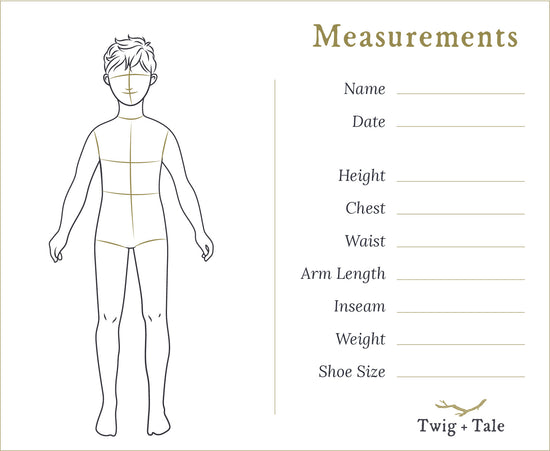 Pocket Measurement Cards - Twig + Tale  -  - 3
