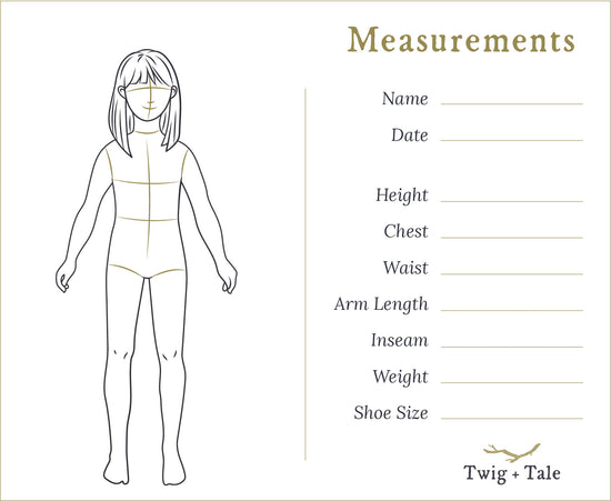 Pocket Measurement Cards - Twig + Tale  -  - 4