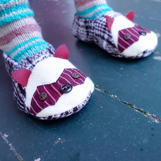 Animal Themed Slippers - Twig + Tale  - Digital PDF sewing pattern 2