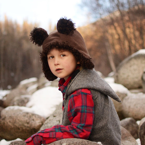 Boys - Animal evergreen bonnet digital PDF sewing pattern by Twig + Tale 7