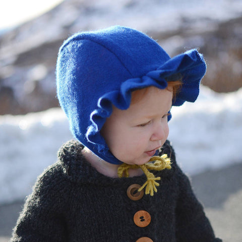 Ruffle Brim for Evergreen Bonnet sewing pattern by Twig and Tale