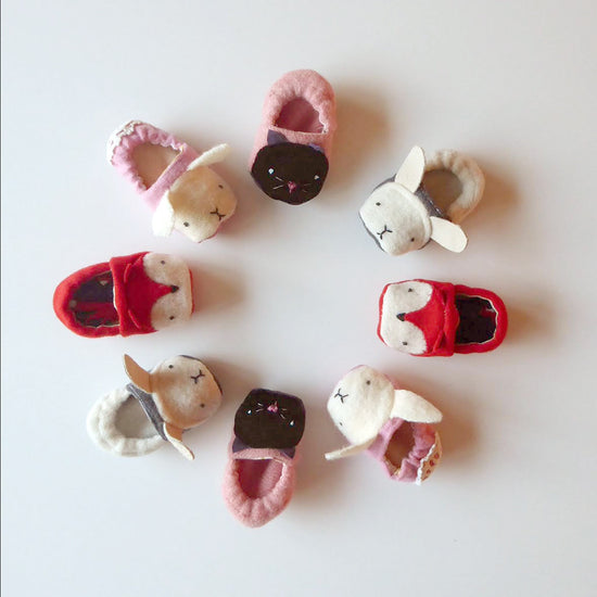 Baby-footwear Animal Shoes - Twig + Tale  Digital PDF sewing pattern