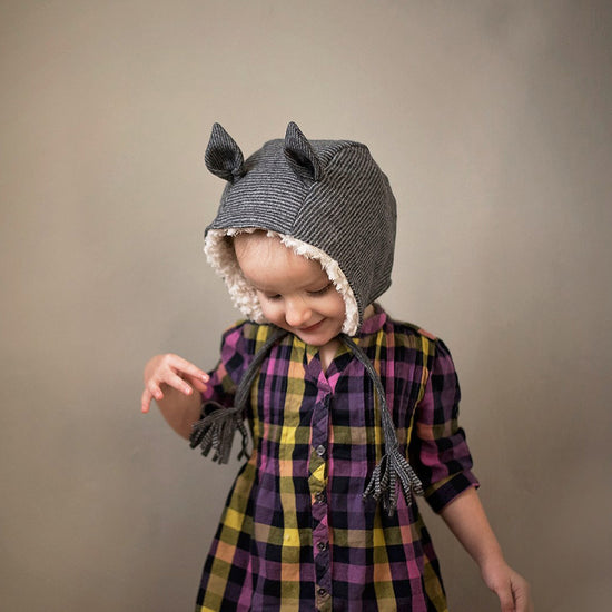 evergreen animal bonnet digital PDF sewing pattern by Twig + Tale