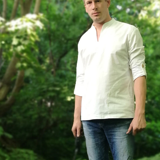 Men's Casual Breeze Shirt - PDF digital sewing pattern by Twig and Tale 8