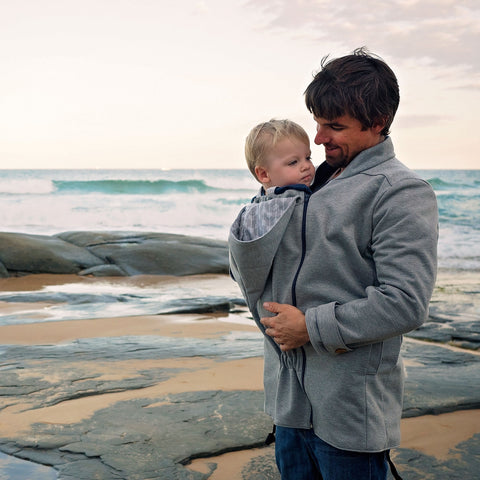 Nestledown Babywearing Coat for Men PDF sewing pattern by Twig + Tale