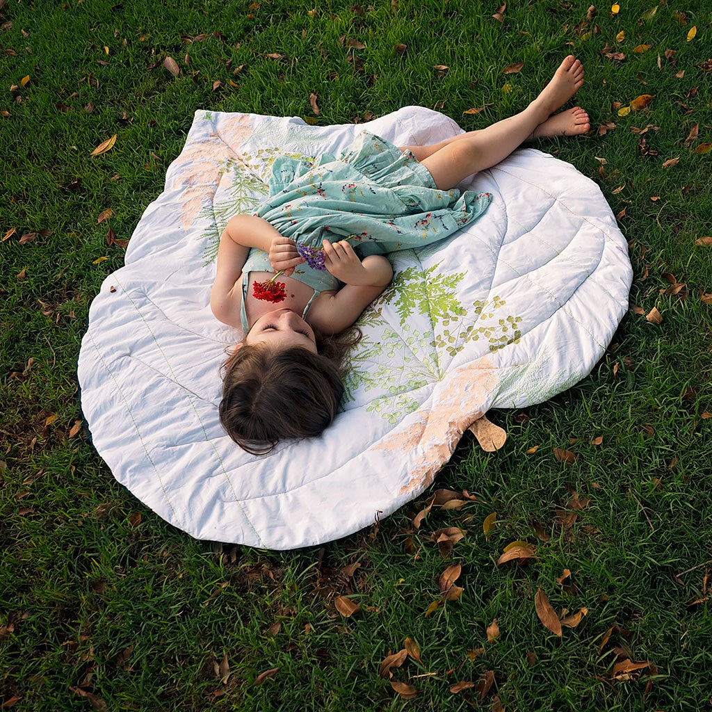 Leaf Blanket sewing pattern digital download by Twig and Tale