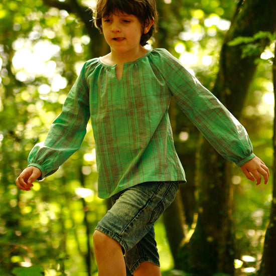 Boys - Tops Driftwood Blouse + Dress PDF digital sewing pattern by Twig + Tale 24