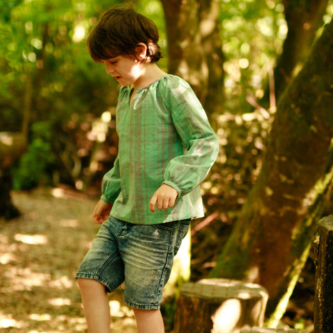 Boys - Tops Driftwood Blouse + Dress PDF digital sewing pattern by Twig + Tale